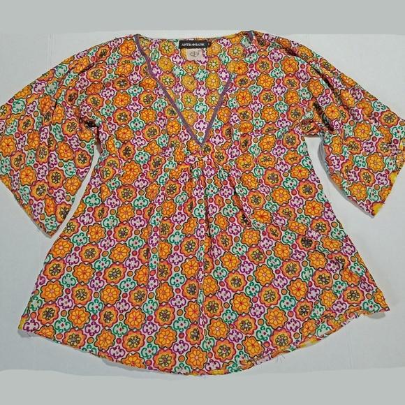 81679e5e510 Antik Batik Tops - Antik Batik silk tunic with sequins boho large